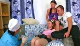 2 kinky maidens are getting beaver holes examined and pounded coarse