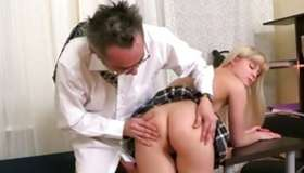 Blond charming tramp is getting her screwed by the debauched naughty guy