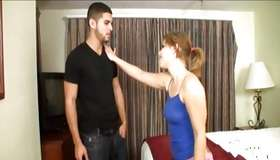 Fascinating brown-haired takes his bigger sugar-plum in her dirty hands