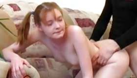 This unordinary young bitch is getting her shouldered with a hard sinewy cock